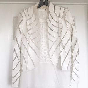 NWT Hot & Delicious White Faux Leather Jacket